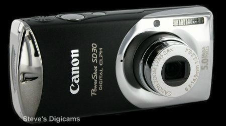 Click to take a QuickTime VR tour of the Canon Powershot SD30
