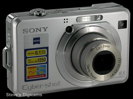 Click to take 360-degree QTVR tour of the Sony CyberShot DSC-W100