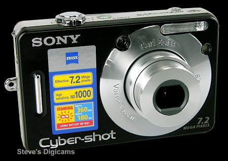 Click to take 360-degree QTVR tour of the Sony CyberShot DSC-W70