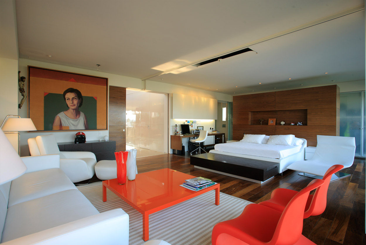 Penthouse-by-Hernandez-Silva-Arquitectos-bedroom2