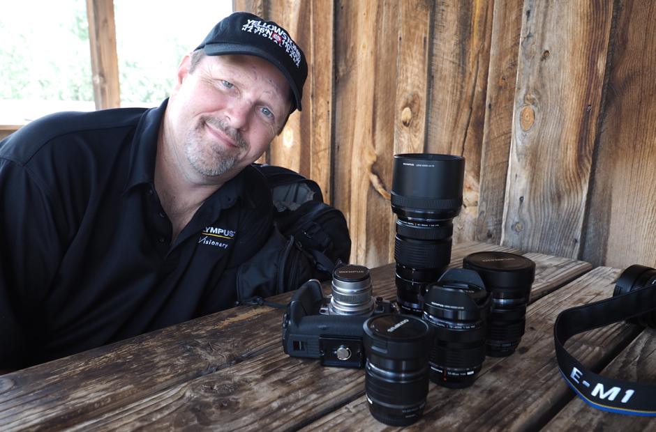 Olympus Trailblazer, Alex McClure with his gear: