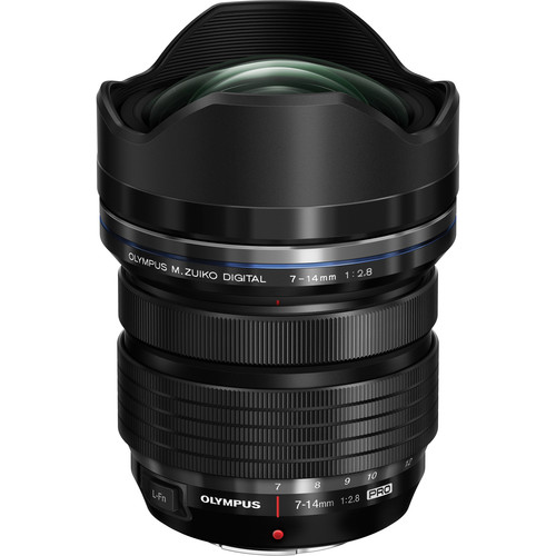 Olympus 7-14 F2.8 PRO wide-angle zoom lens