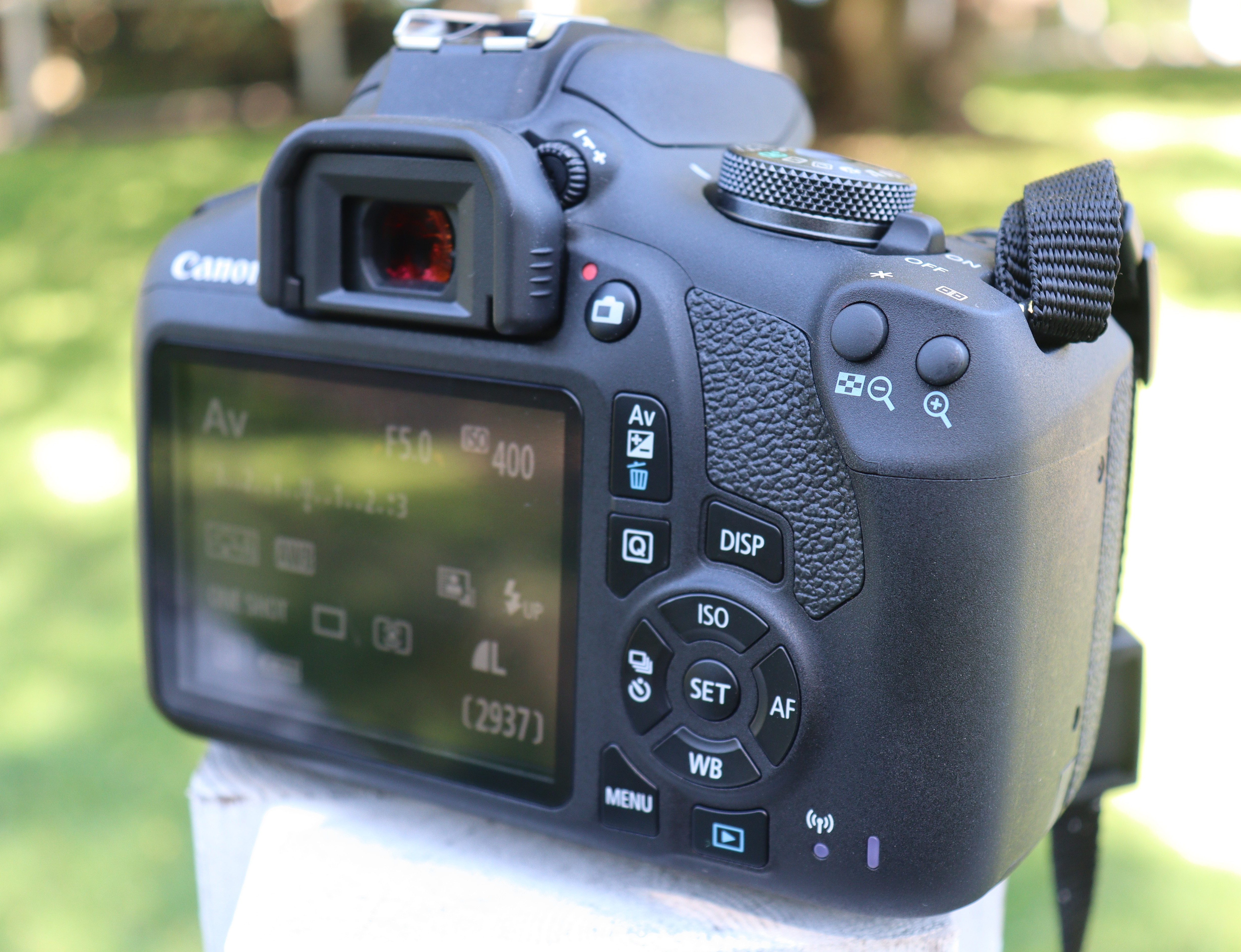 Canon T7 back view