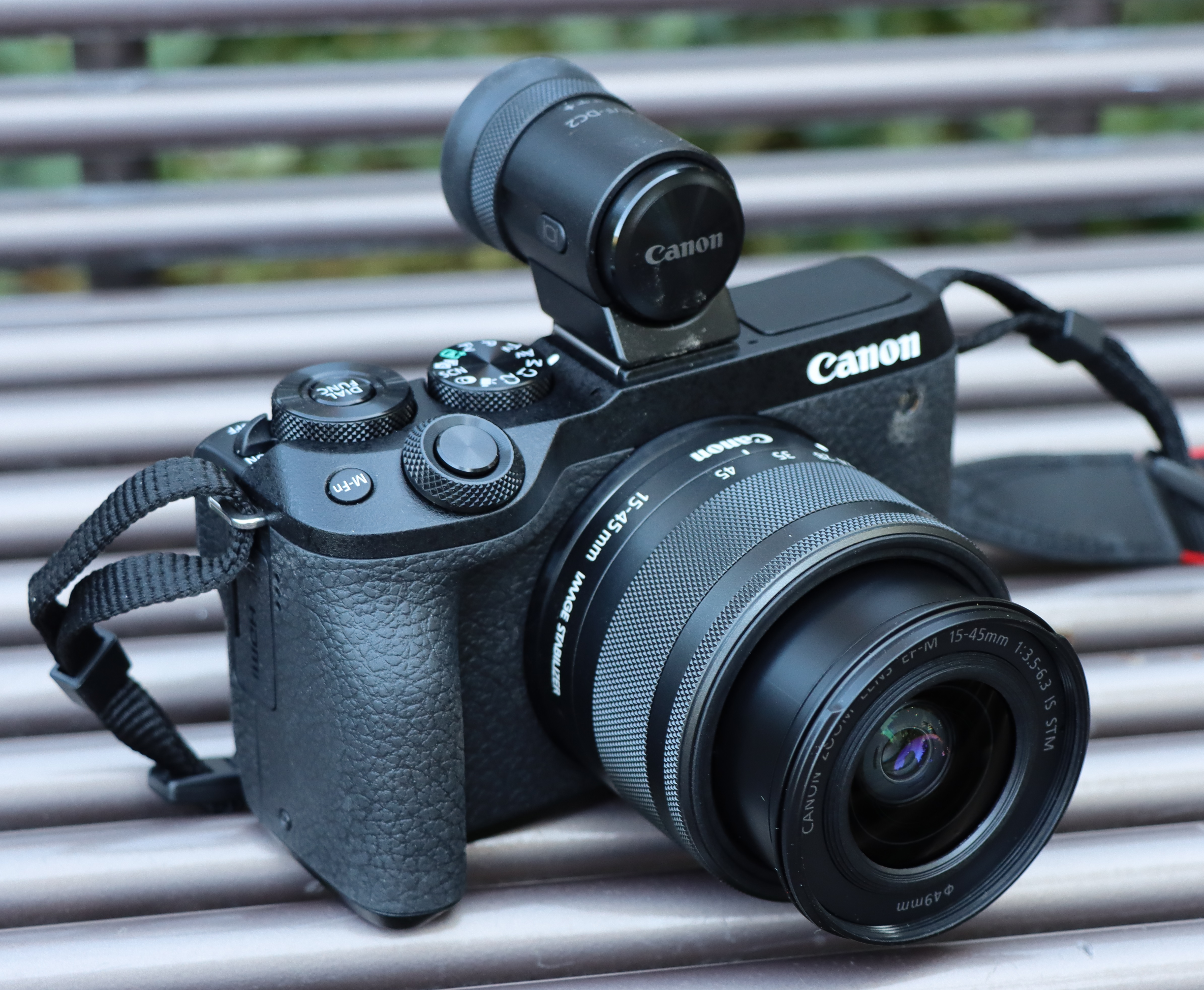 Canon M6 Mark II with viewfinder