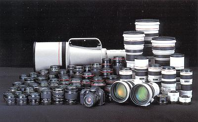 Canon EF lenses.  Photo (c) Canon USA.