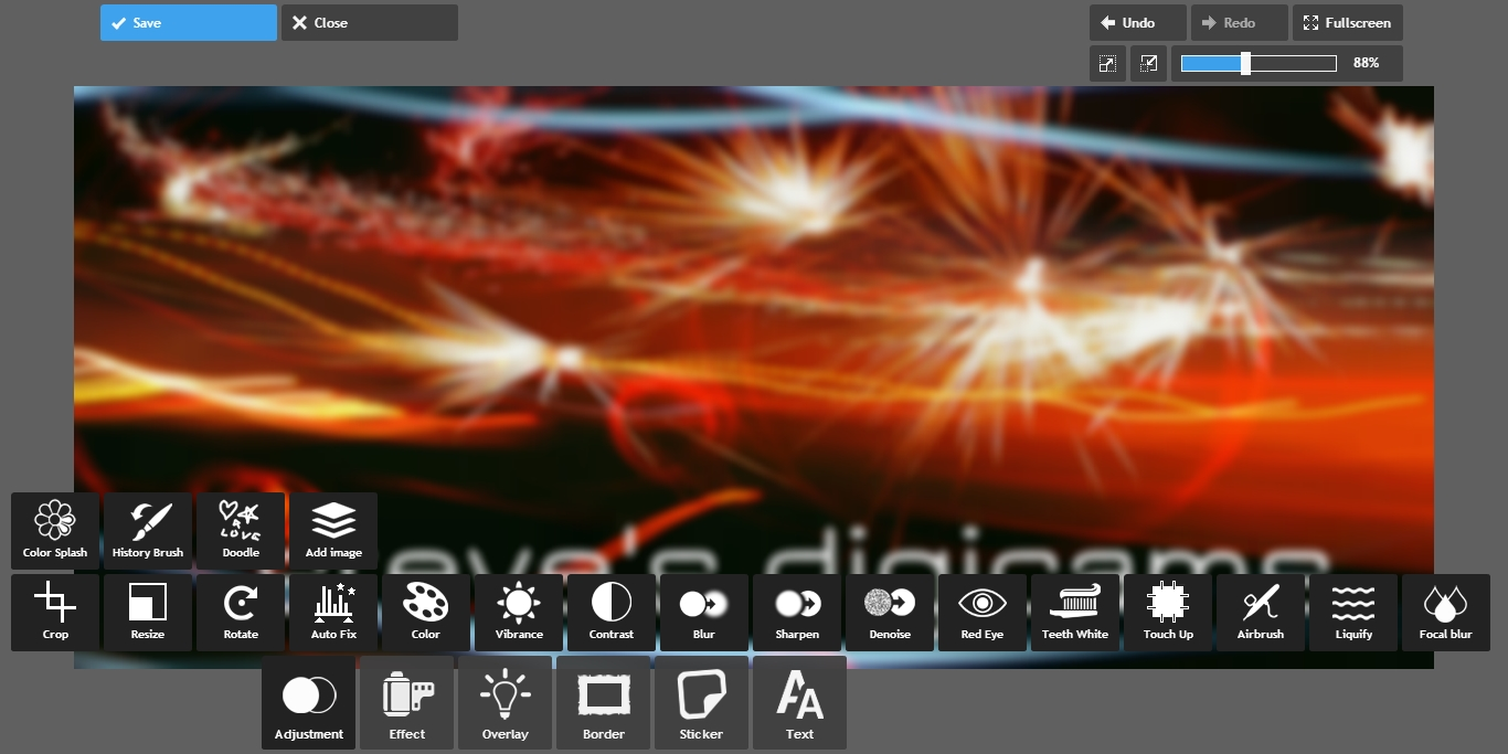 Free online photo editor selective coloring - Blur Save Jpg